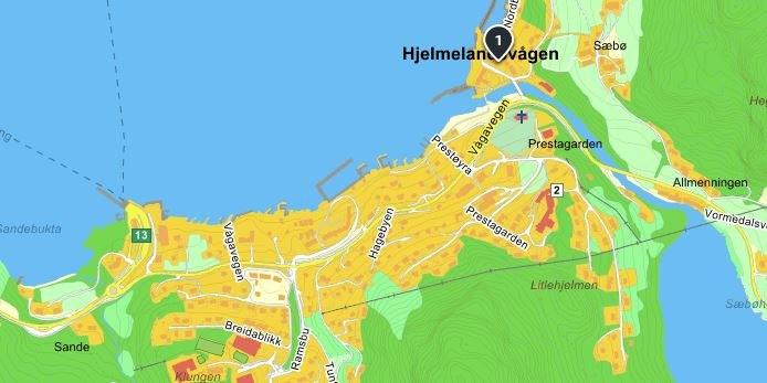 Hjelmeland kart